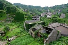 Pueblo chino abandonado Imágenes de archivo libres de regalías