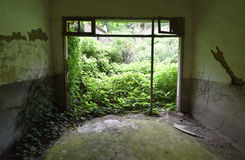 Pueblo chino abandonado Imagen de archivo libre de regalías
