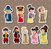 Pueblo chino de las etiquetas engomadas Fotografía de archivo