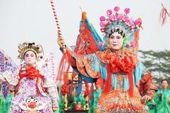 Pueblo chino del desfile del Año Nuevo Imágenes de archivo libres de regalías