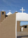 Pueblo Church. Mission church on Taos Pueblo, Taos, New Mexico stock image