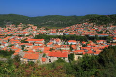 Pueblo croata de la isla de Korcula Imágenes de archivo libres de regalías