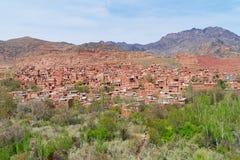 Pueblo de Abyaneh en Kashan, Irán Fotos de archivo libres de regalías