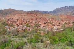 Pueblo de Abyaneh en Kashan, Irán Imagen de archivo