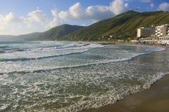 Pueblo de Acciaroli, costa de Cilento, Italia meridional Imagenes de archivo