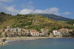 Pueblo de Acciaroli, Italia meridional Imágenes de archivo libres de regalías
