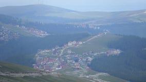 Pueblo de arriba de Runcu, Rumania Imágenes de archivo libres de regalías