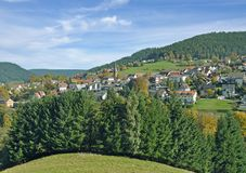Baiersbronn, bosque negro, Alemania Foto de archivo