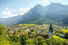 Pueblo de Balzers en Liechtenstein Fotografía de archivo