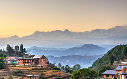Pueblo de Bandipur en Nepal Imagen de archivo