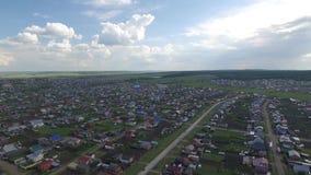 Pueblo de Barda en Rusia en el verano metrajes