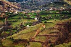 Pueblo de Bashevo, Rhodopes del este, Bulgaria Fotografía de archivo