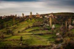 Pueblo de Bashevo, Rhodopes del este, Bulgaria Imagenes de archivo
