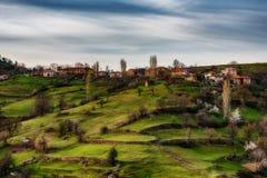 Pueblo de Bashevo, Rhodopes del este, Bulgaria Fotos de archivo libres de regalías