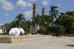 Pueblo de Becal坎比其墨西哥 免版税图库摄影