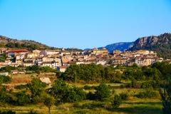 Pueblo de Beceite en Teruel España en Matarrana imagen de archivo