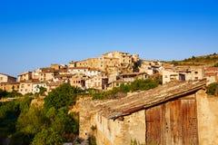 Pueblo de Beceite en Teruel España en Matarrana foto de archivo libre de regalías