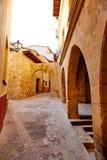 Pueblo de Beceite en Teruel España en Matarrana fotos de archivo