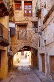 Pueblo de Beceite en Teruel España en Matarrana foto de archivo
