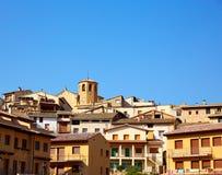 Pueblo de Beceite en Teruel España en Matarrana fotos de archivo libres de regalías