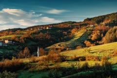 Pueblo de Borovitsa, Rhodopes del este, Bulgaria Fotografía de archivo