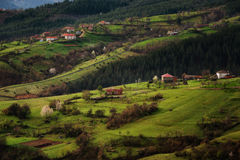Pueblo de Borovitsa, Rhodopes del este, Bulgaria Imagen de archivo