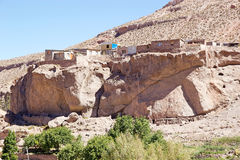 Pueblo de Caspana, Chile foto de archivo