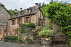 Pueblo de Conques en Francia Imagen de archivo