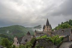 Pueblo de Conques en Francia Fotos de archivo libres de regalías
