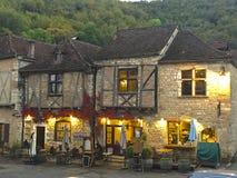 Pueblo de Conques en Francia Foto de archivo libre de regalías