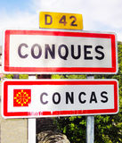 Pueblo de Conques - Francia Foto de archivo