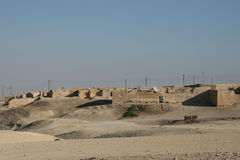 Pueblo de desierto sirio típico Foto de archivo libre de regalías
