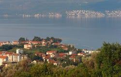 Pueblo de Donja Lastva Bahía de Kotor, Montenegro Imagen de archivo