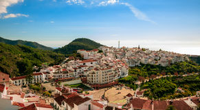 Pueblo de Frigiliana en Málaga Fotos de archivo libres de regalías