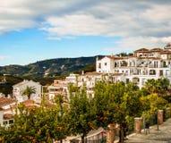 Pueblo de Frigiliana en Málaga Fotografía de archivo