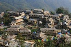 Pueblo de Ghandruk imagen de archivo libre de regalías