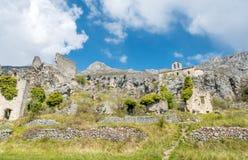 Pueblo de Gréolières en Francia Fotografía de archivo