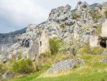 Pueblo de Gréolières en Francia Imágenes de archivo libres de regalías