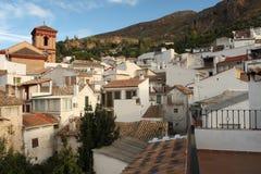 Pueblo de Guejar Sierra en Sierra Nevada foto de archivo libre de regalías