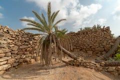 Pueblo de Herritage en la isla de Farasan en la provincia de Jizan, la Arabia Saudita foto de archivo