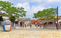 Pueblo de Hong-Kong del silbido de bala de Ngong Fotografía de archivo libre de regalías