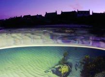 Pueblo de Iona por noche foto de archivo libre de regalías