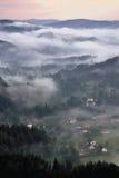 Pueblo de Jetiichovice Fotos de archivo libres de regalías