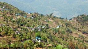Pueblo de Kharikhola, montañas nepalesas de Himalaya Foto de archivo libre de regalías