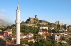 Pueblo de Kruja, Albania fotografía de archivo