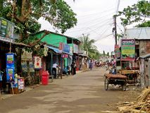 Pueblo de Kuakata, Bangaldesh Imagen de archivo libre de regalías