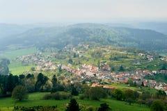 Pueblo de la antena de Wangenbourg-Engenthal Alsacia Imágenes de archivo libres de regalías