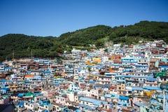 Pueblo 1 de la cultura de Busán Gamcheon Imágenes de archivo libres de regalías