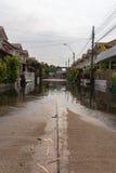 Pueblo de la inundación del agua Imágenes de archivo libres de regalías