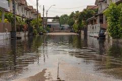 Pueblo de la inundación del agua Imagen de archivo